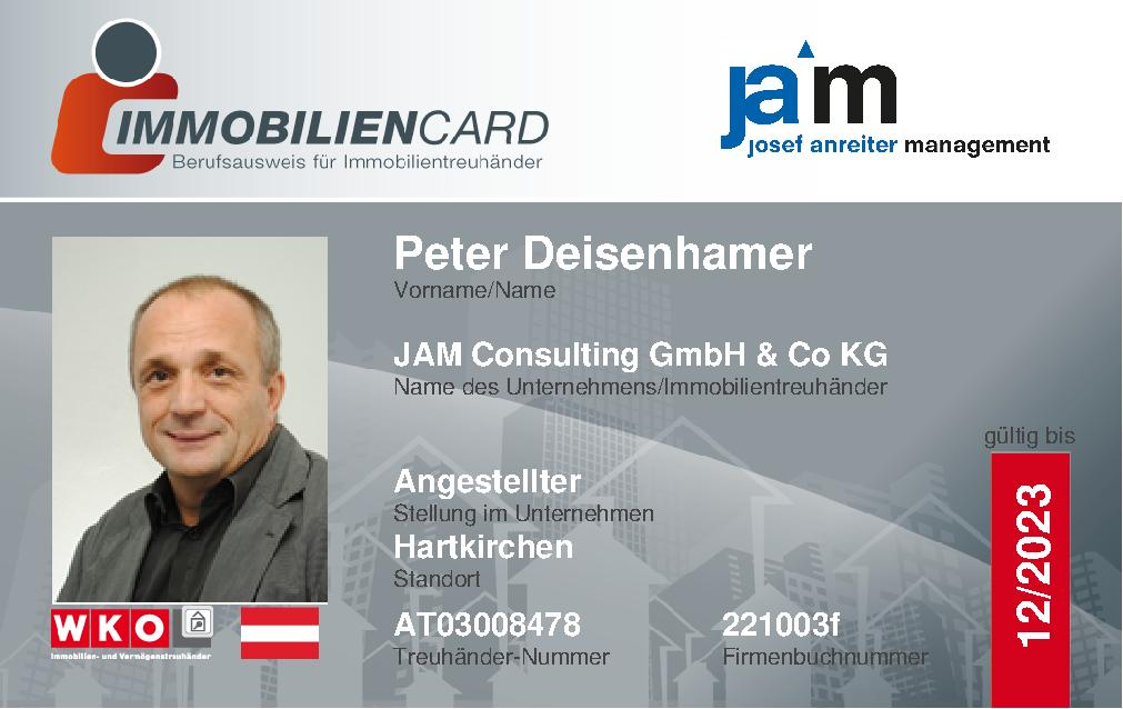 Immobiliencard von JAM Consulting GmbH & Co. KG
